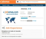 In Jobomas your profile is your personal branding